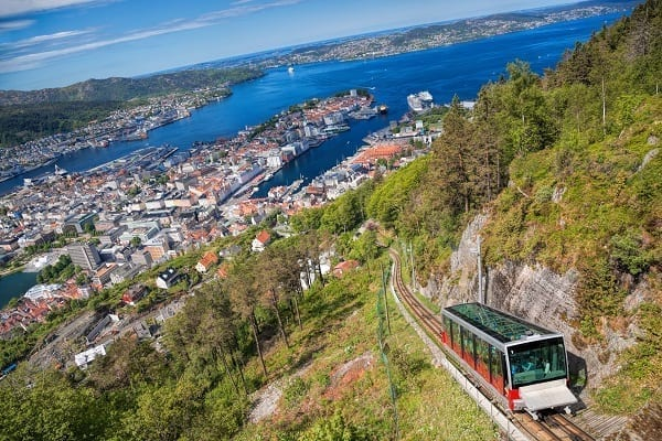 Cruise ship shore excursions in Bergen, Norway