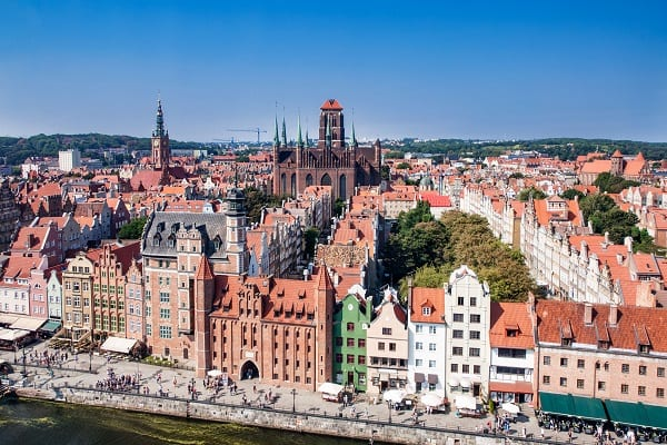 Cruise ship shore excursions in Gdansk, Poland