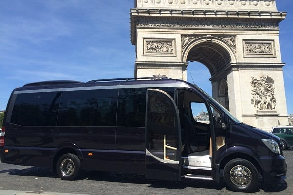 Luxury minibus hire in Paris, France
