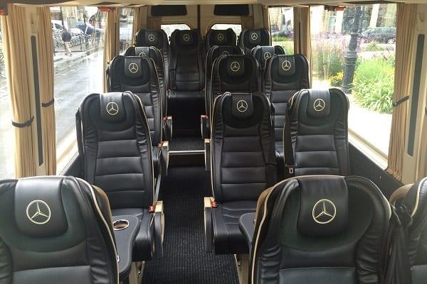 VIP minibus rental Paris, France